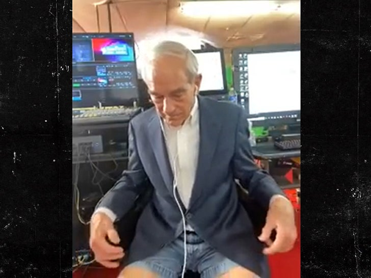 Ron Paul Wears Daisy Dukes with Suit Jacket for Interview.jpg