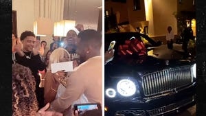 Diddy Surprises Mom with $1 Mil and New Bentley for 80th Bday