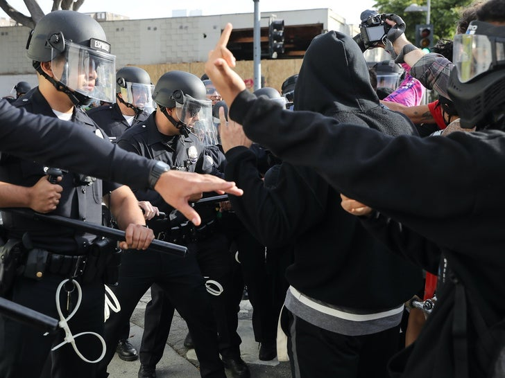 Protesters Face Off With Police