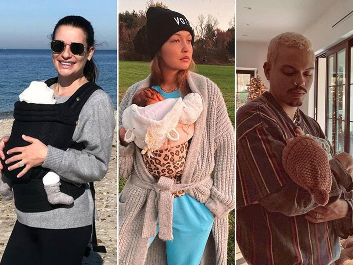 Stars With Their New Gifts -- Baby Bundles Of Joy!