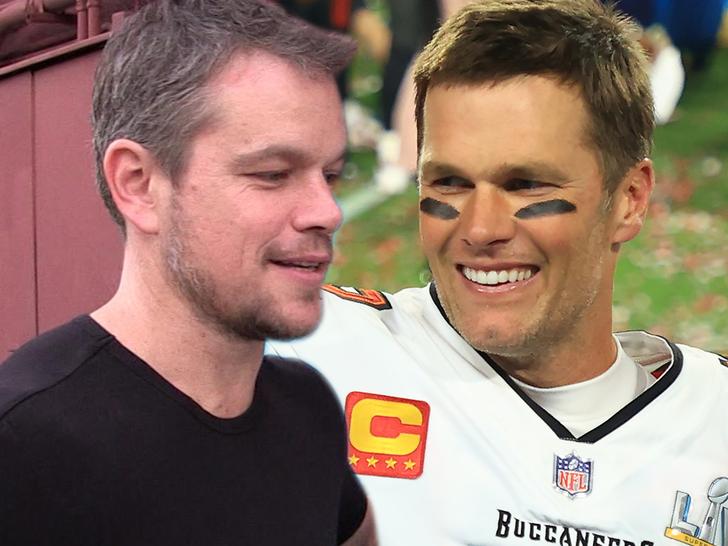 Matt Damon Says He'd Root For Tom Brady In Buccaneers Vs. Patriots Super Bowl.jpg