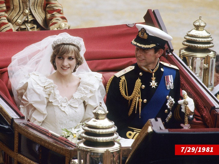 Princess Diana and Prince Charles Wedding Photos