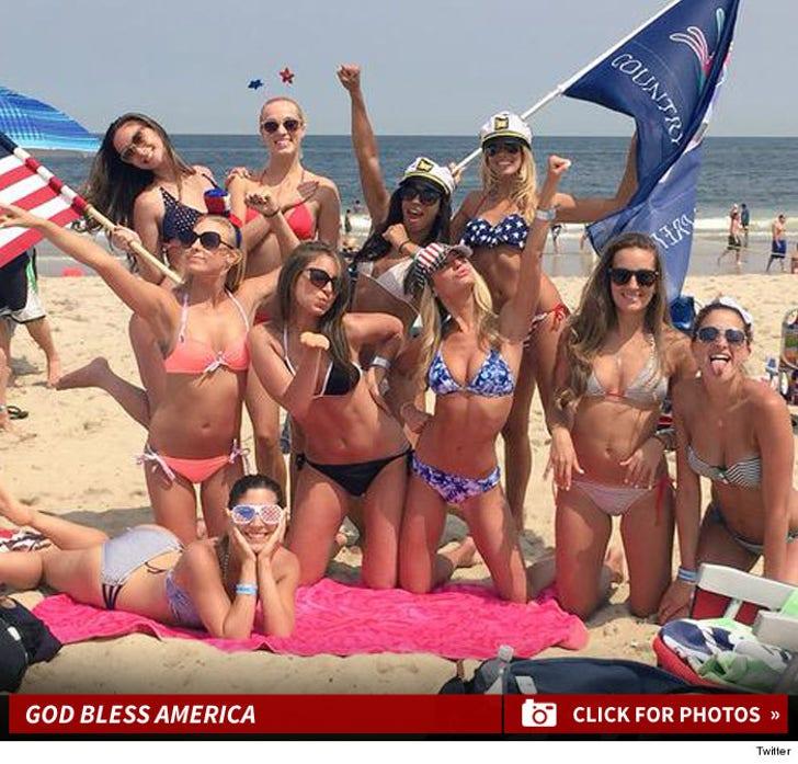 NFL Cheerleaders -- 4th of July Bikini Photos