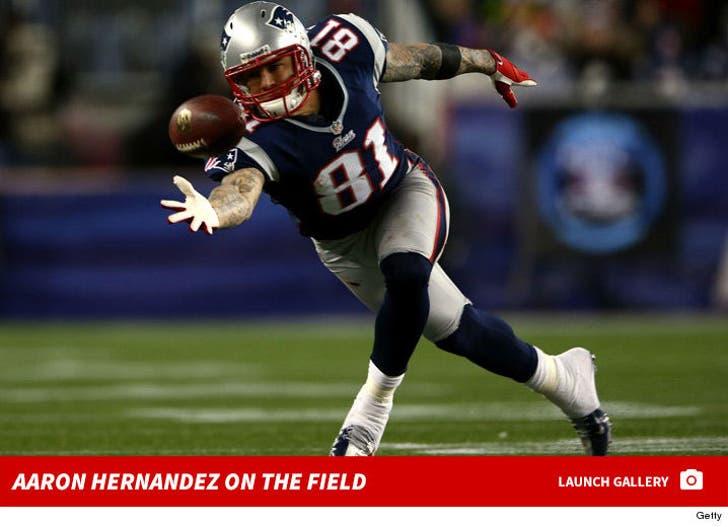 Aaron Hernandez -- On the Field