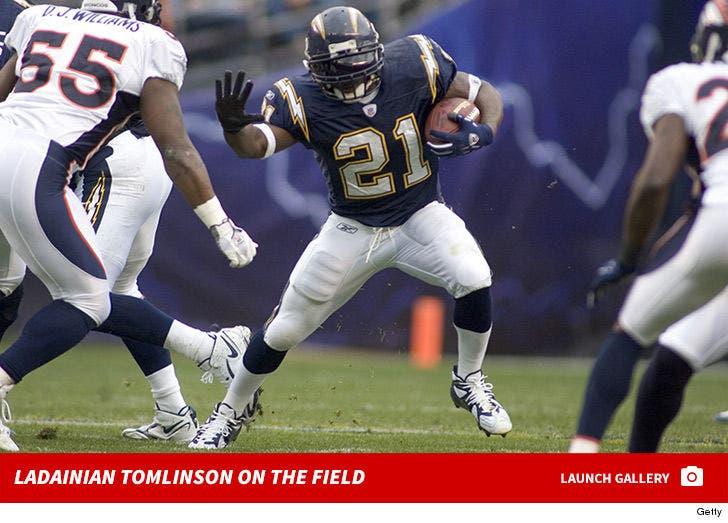 LaDainian Tomlinson on the Field