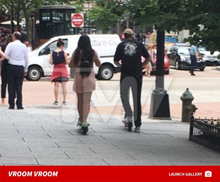 Jenelle Evans and David Eason Ride Scooters In Washington D.C.
