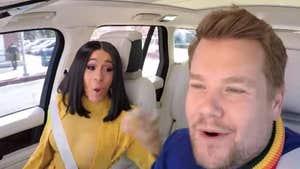 Cardi B Cuts Loose on 'Carpool Karaoke,' Gets a Driving Lesson Too