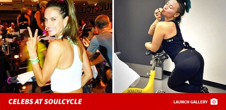 Celebs at SoulCycle