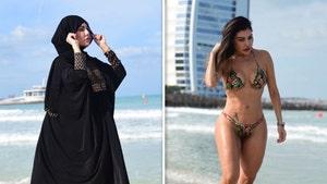 Model Liziane Gutierrez Wears Burka AND Bikini in Dubai