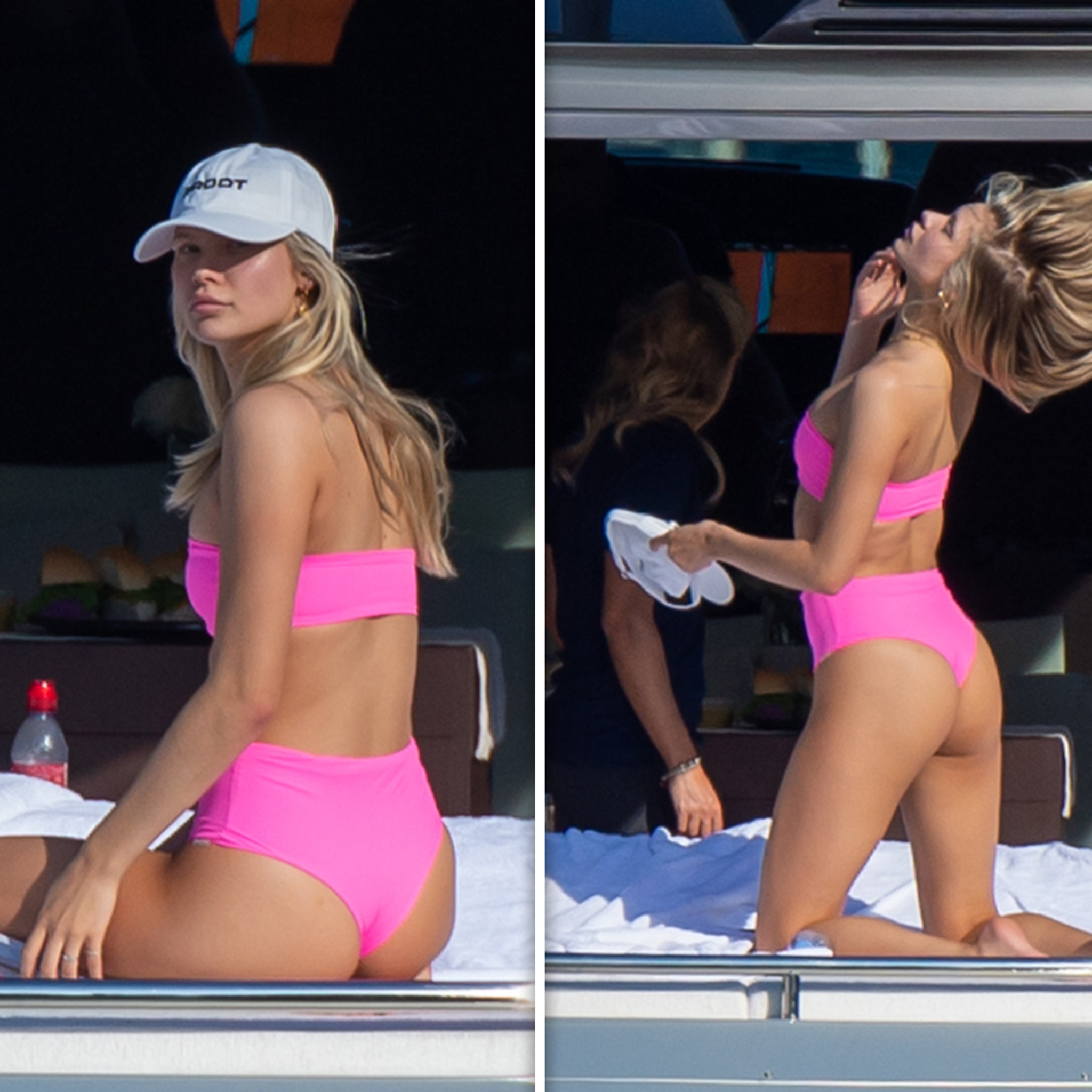 Josie Canseco Parties on Yacht During Super Bowl Week in Miami
