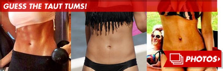 Star's Stomachs -- Guess the Taut Tums!