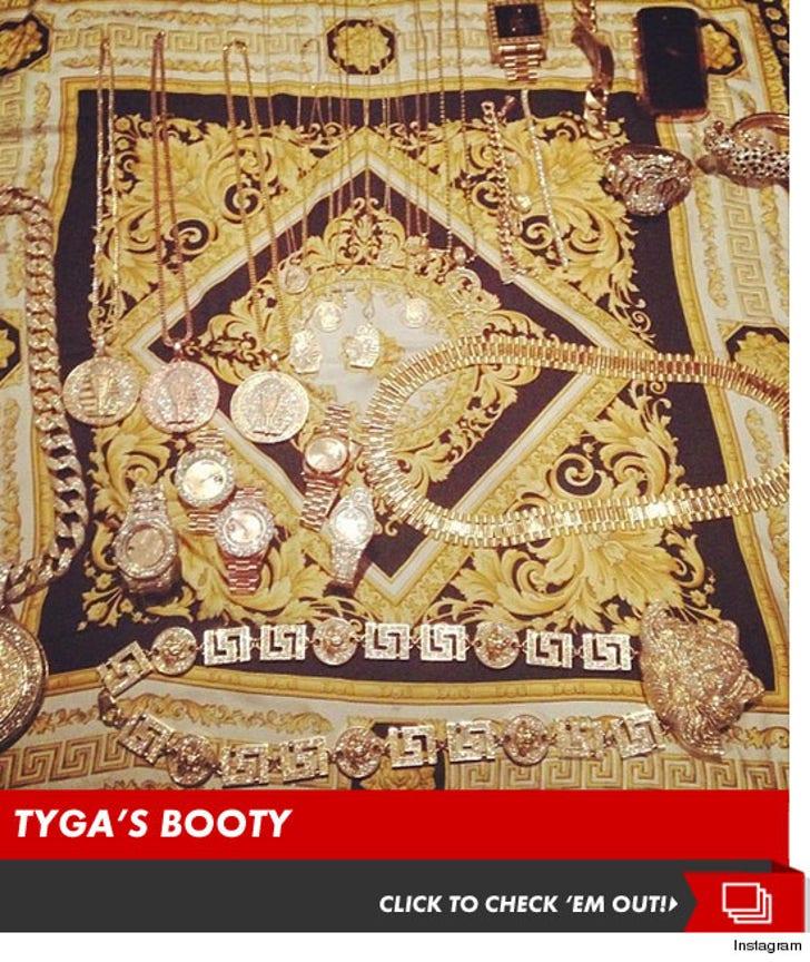 Tyga's Gold Booty