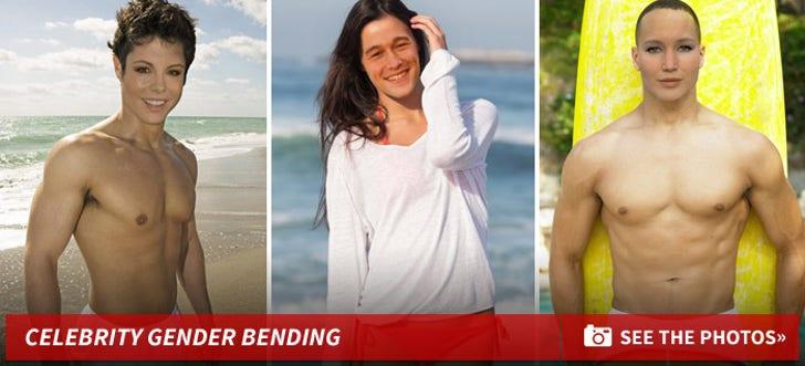 Stars Swappin' Sex -- The Gender Bending Beach Pics!