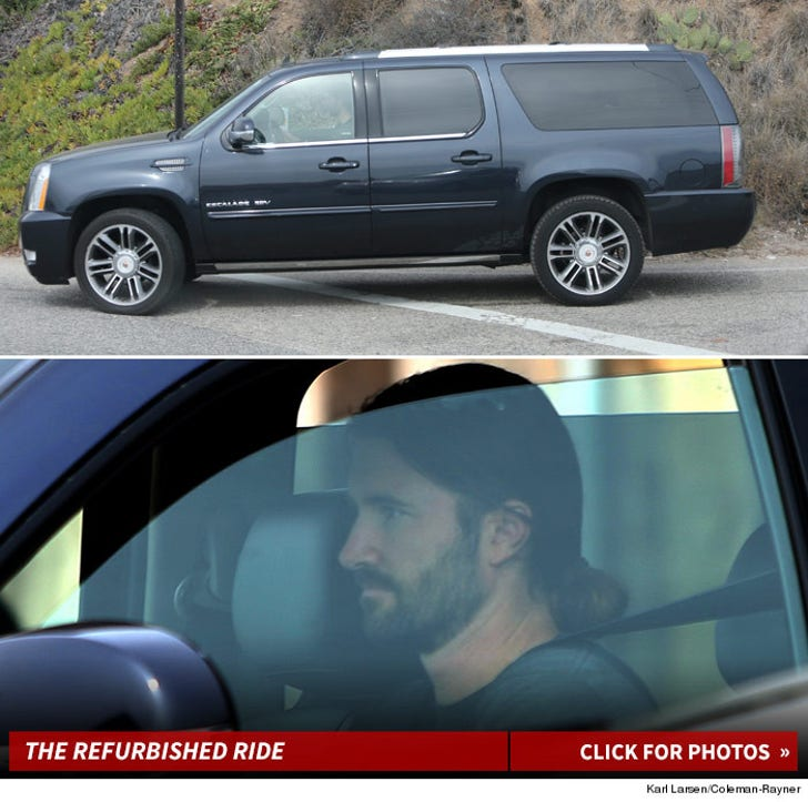 Brandon Jenner Driving Caitlyn's old Escalade