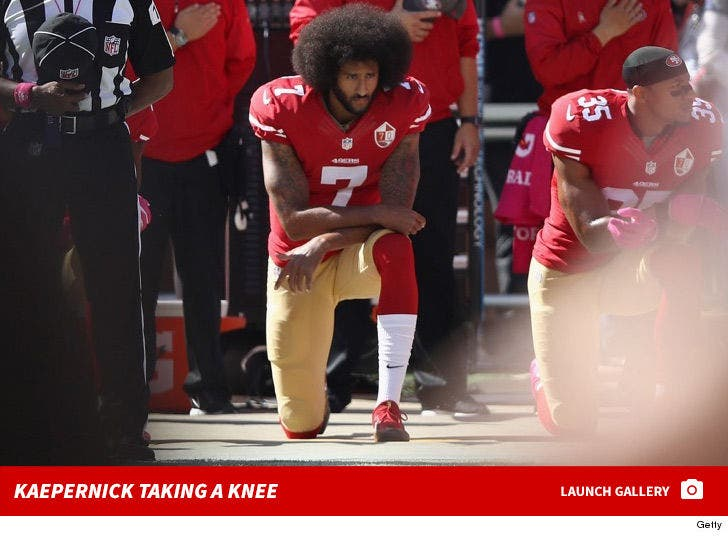 Colin Kaepernick Kneeling in Protest