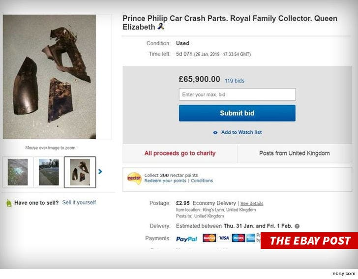 All Crash Parts >> Prince Philip Car Crash Parts Listing Pulled By Ebay