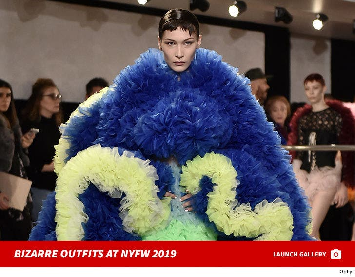 Bizarre Outfits At NYFW 2019