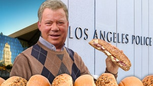 William Shatner Plays Santa For LAPD With Surprise Christmas Feast