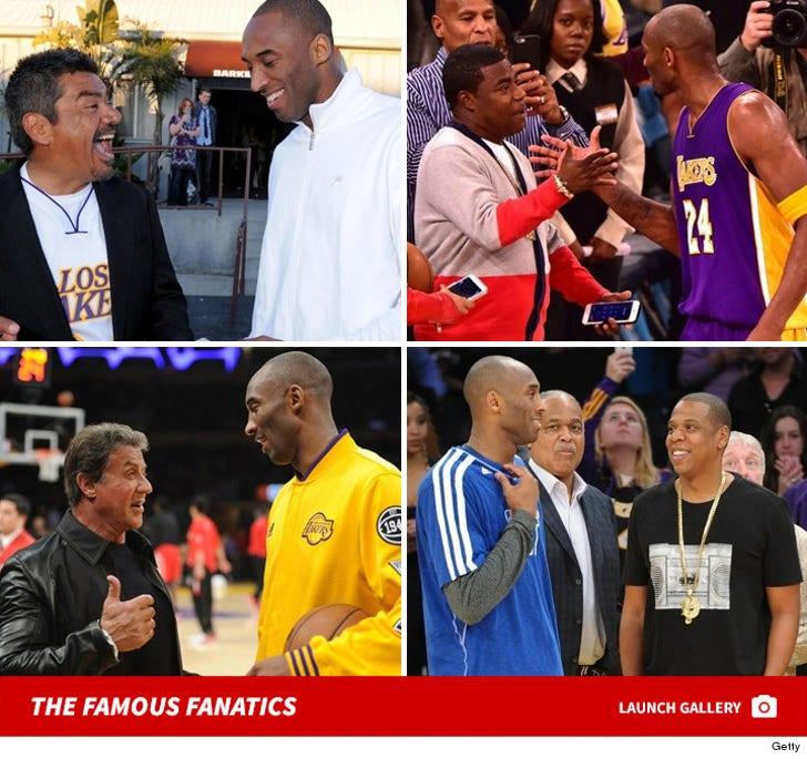 Kobe Bryant's Famous Fans