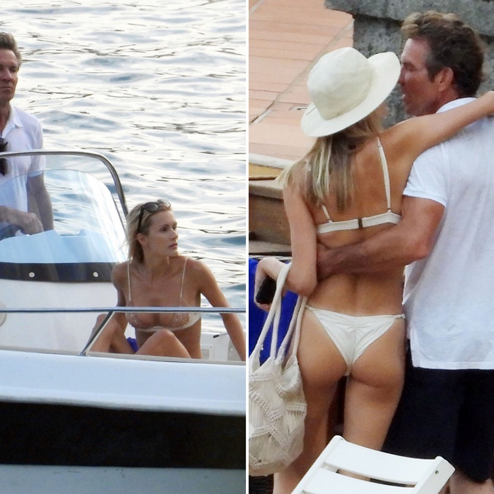 Dennis Quaid Takes Young Girlfriend on Boat Date on Lake Como