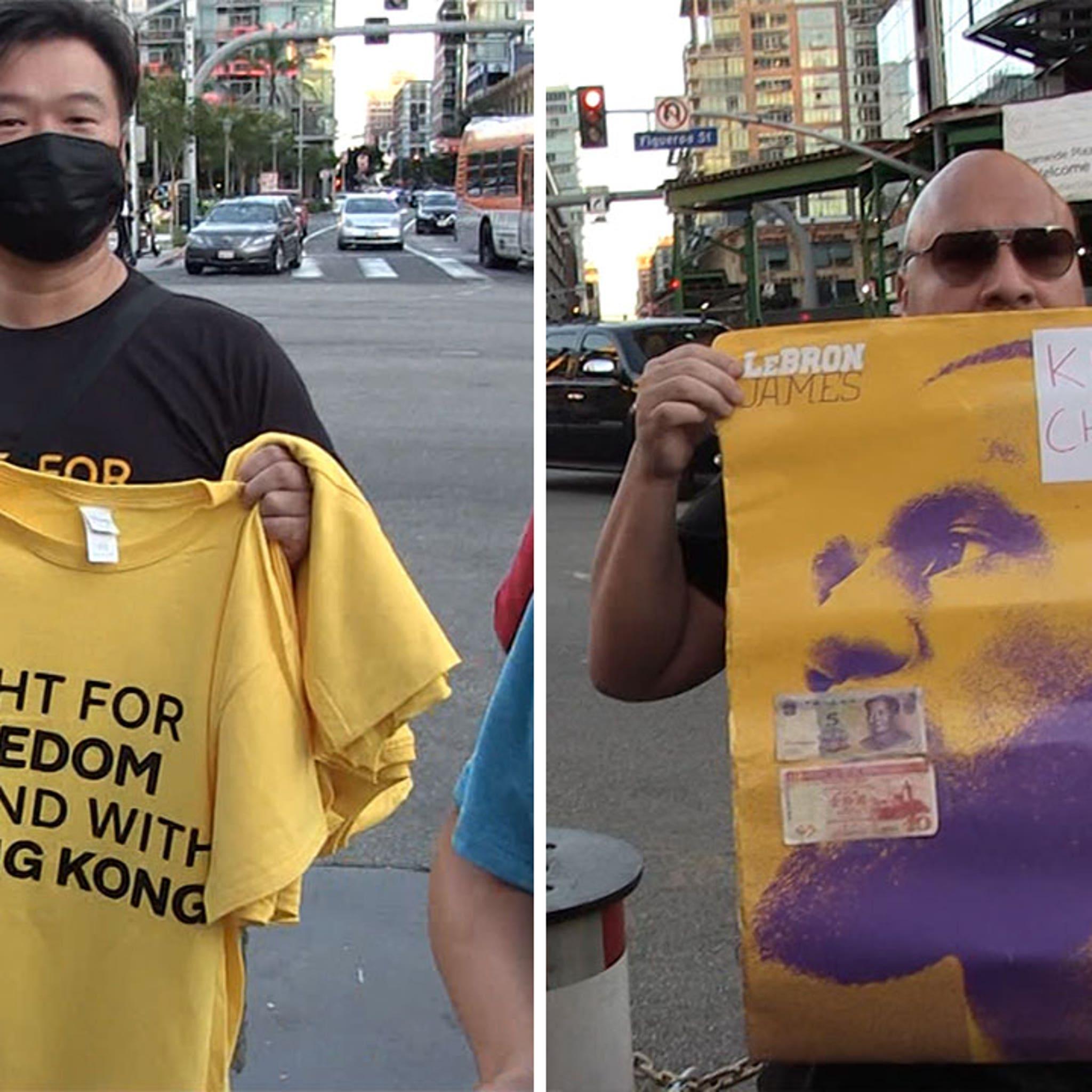 Hong Kong Protesters Targeted LeBron James Outside Lakers Game
