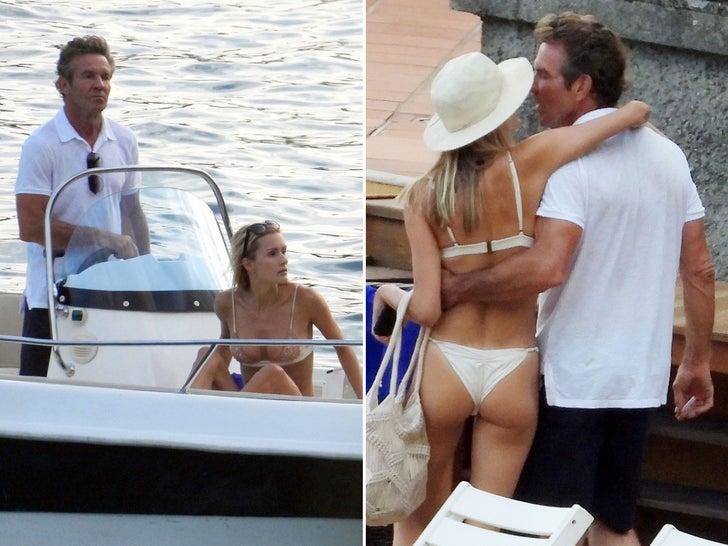 Dennis Quaid And Girlfriend Love Boatin' On Lake Como