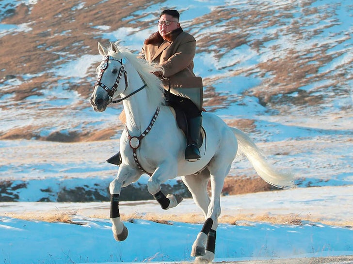 Kim Jong-un Rides White Horse to Sacred Mountain