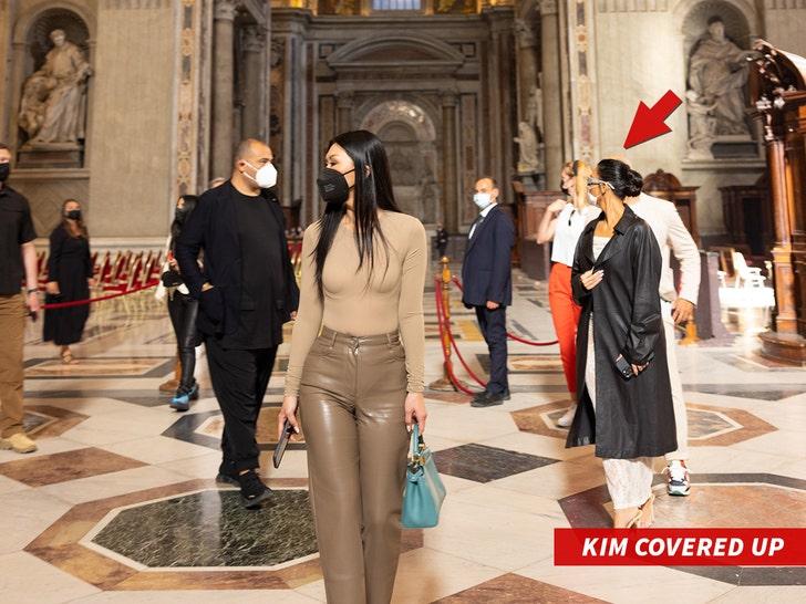 Kim Kardashian of her covered up inside Sistine Chapel