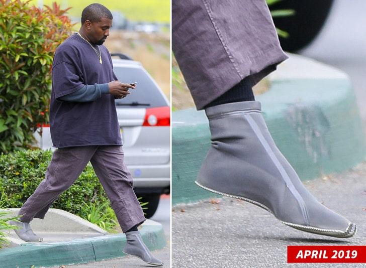 Kris Jenner Reveals Latest Yeezy Shoe