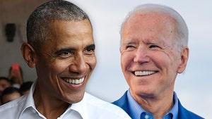Barack Obama Drains a 3-Point Shot Before Michigan Rally for Joe Biden