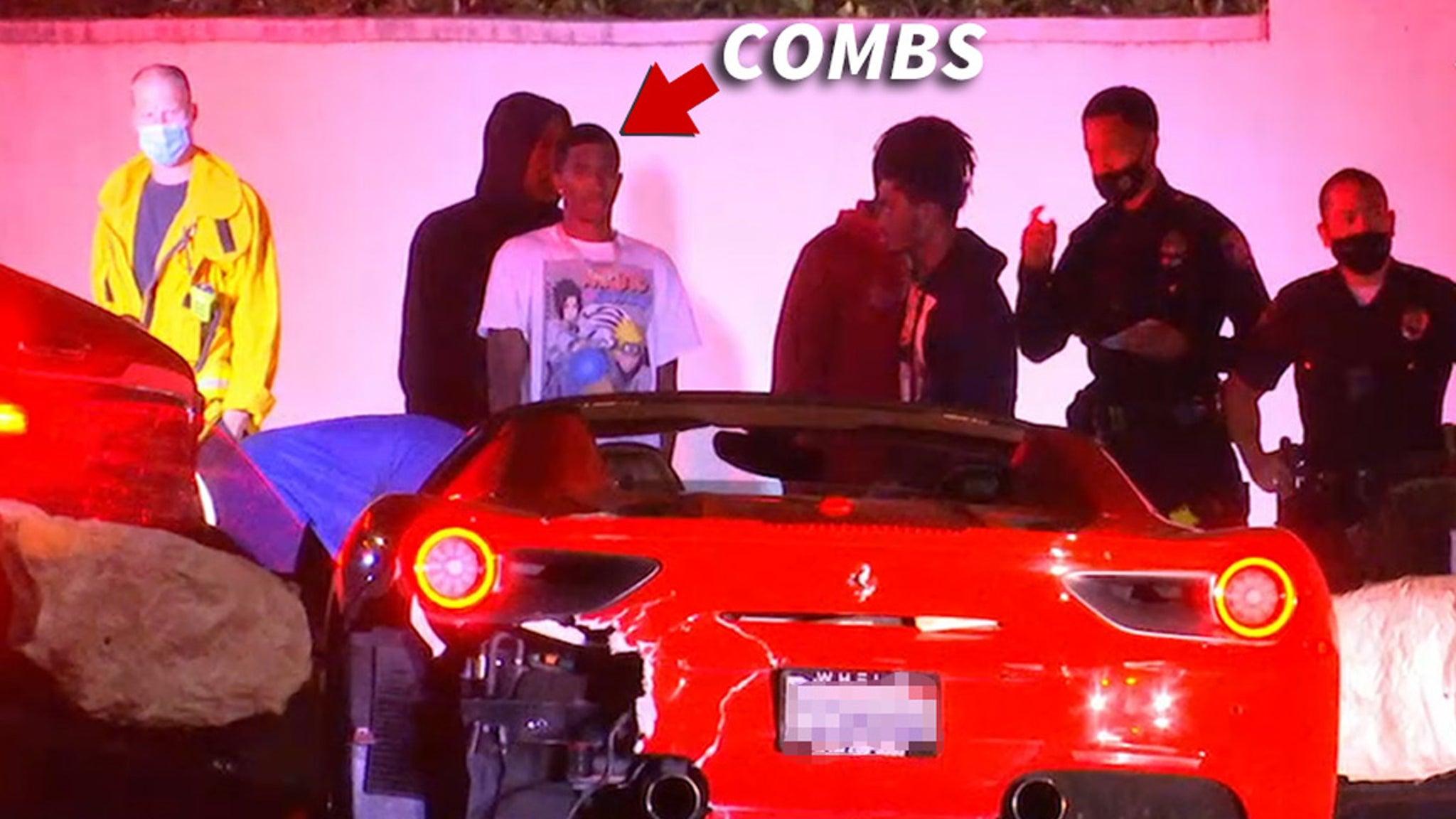 Diddy's Son King Combs Injured in Wild Ferrari vs. Tesla Crash