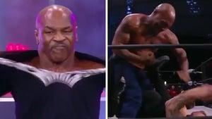 Mike Tyson 'Bludgeons' AEW's Shawn Spears on 'Dynamite' In Wild In-Ring Brawl
