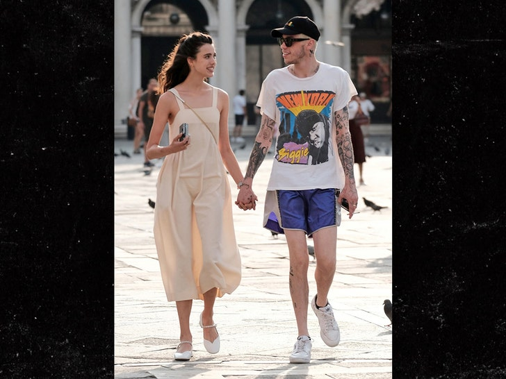 Pete Davidson Hand in Hand Stroll with Margaret Qualley