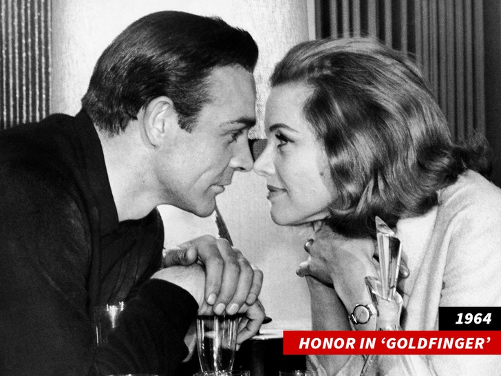 Honor Blackman in 'Goldfinger'