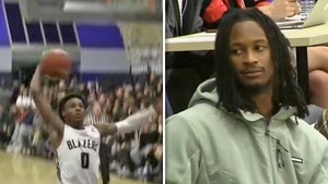 Todd Gurley Gets Courtside Seats For Bronny James Game, Sees Sick Alley-Oop!