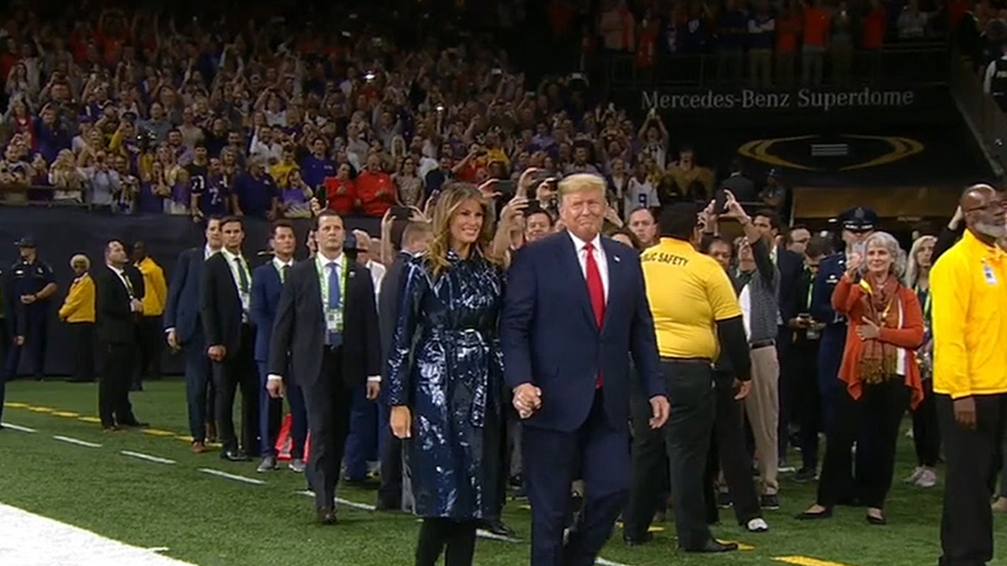 President Trump Gets Standing Ovation At National Championship Game