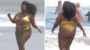 Lizzo Rocks Strappy Gold Swimsuit on Heels of Jillian Michaels Remarks