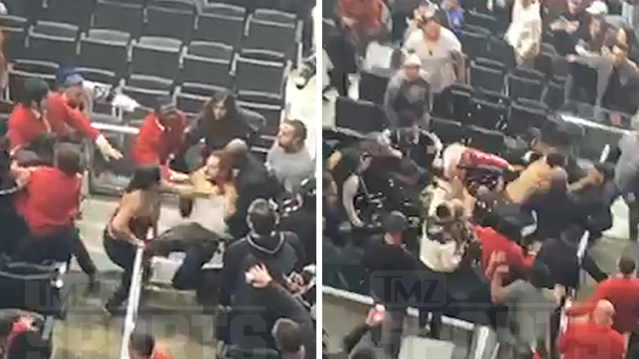 L.A. Kings Fans Get In Insane Brawl, Shirtless Haymakers & Popcorn Showers!