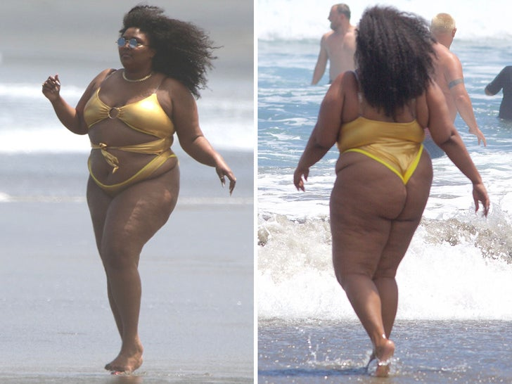 Lizzo -- Gold As Hell On New Zealand Beach