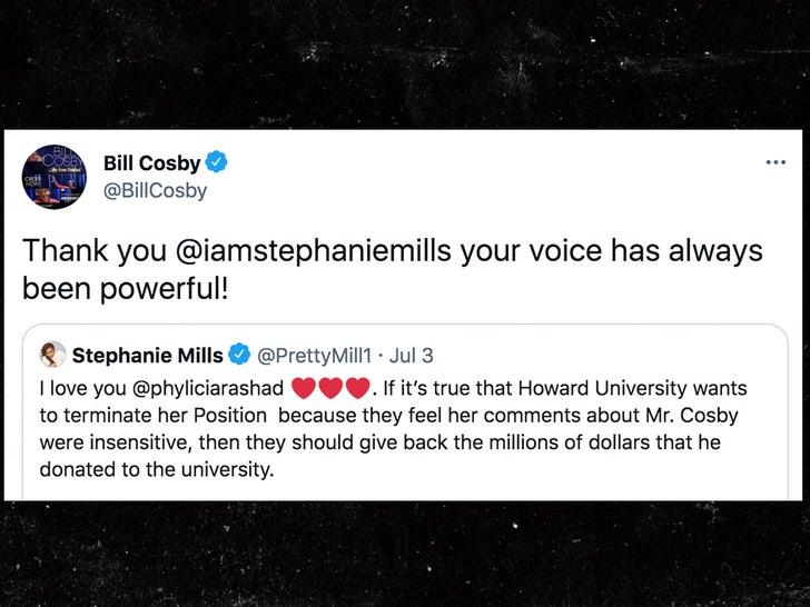 bill cosby response to stephanie mills