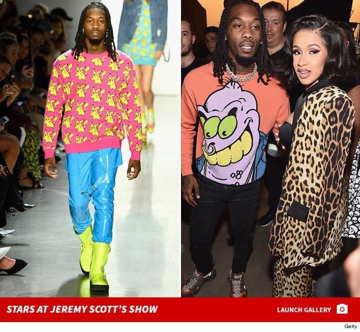 Stars at Jeremy Scott's NYFW Show
