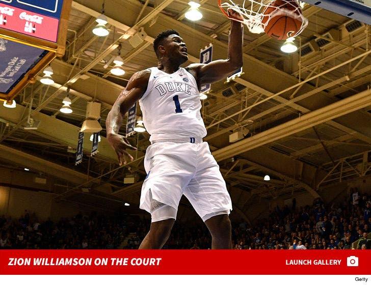 Zion Williamson on the Court