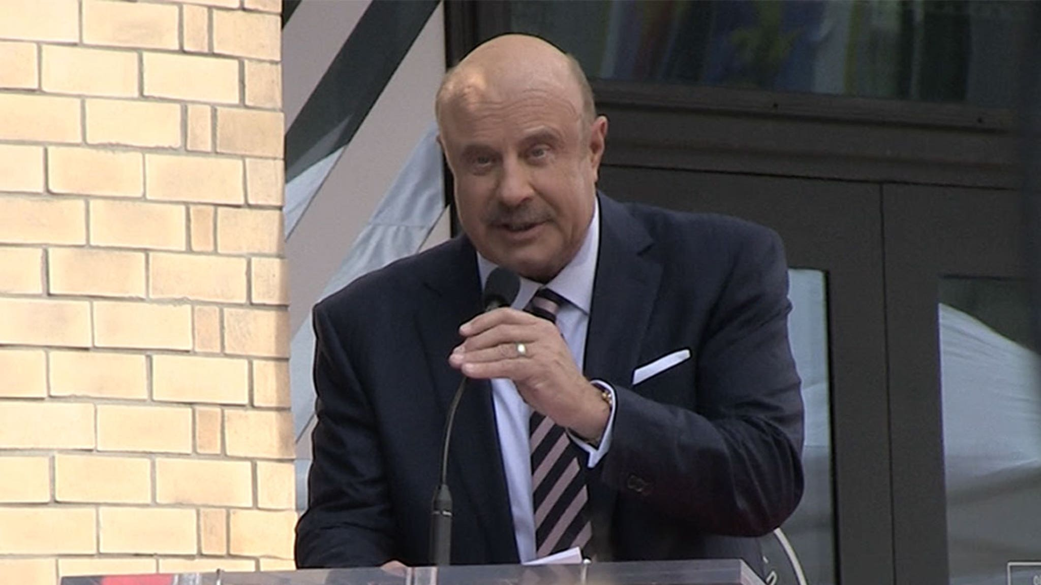 Dr. Phil Jabs at His Dad in Hollywood Walk of Fame Speech