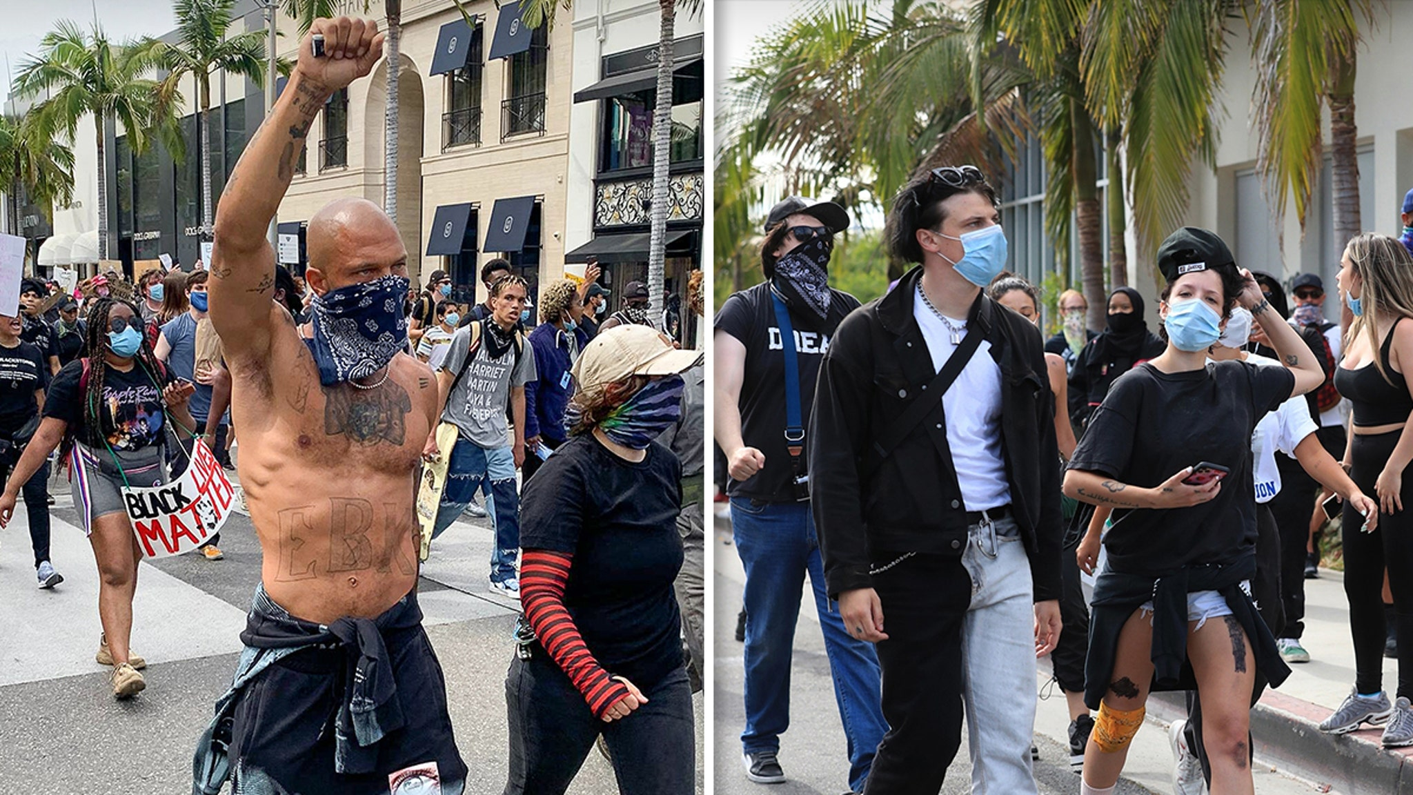 George Floyd Protests Celebs Take to the Streets ... Other Countries Do Too