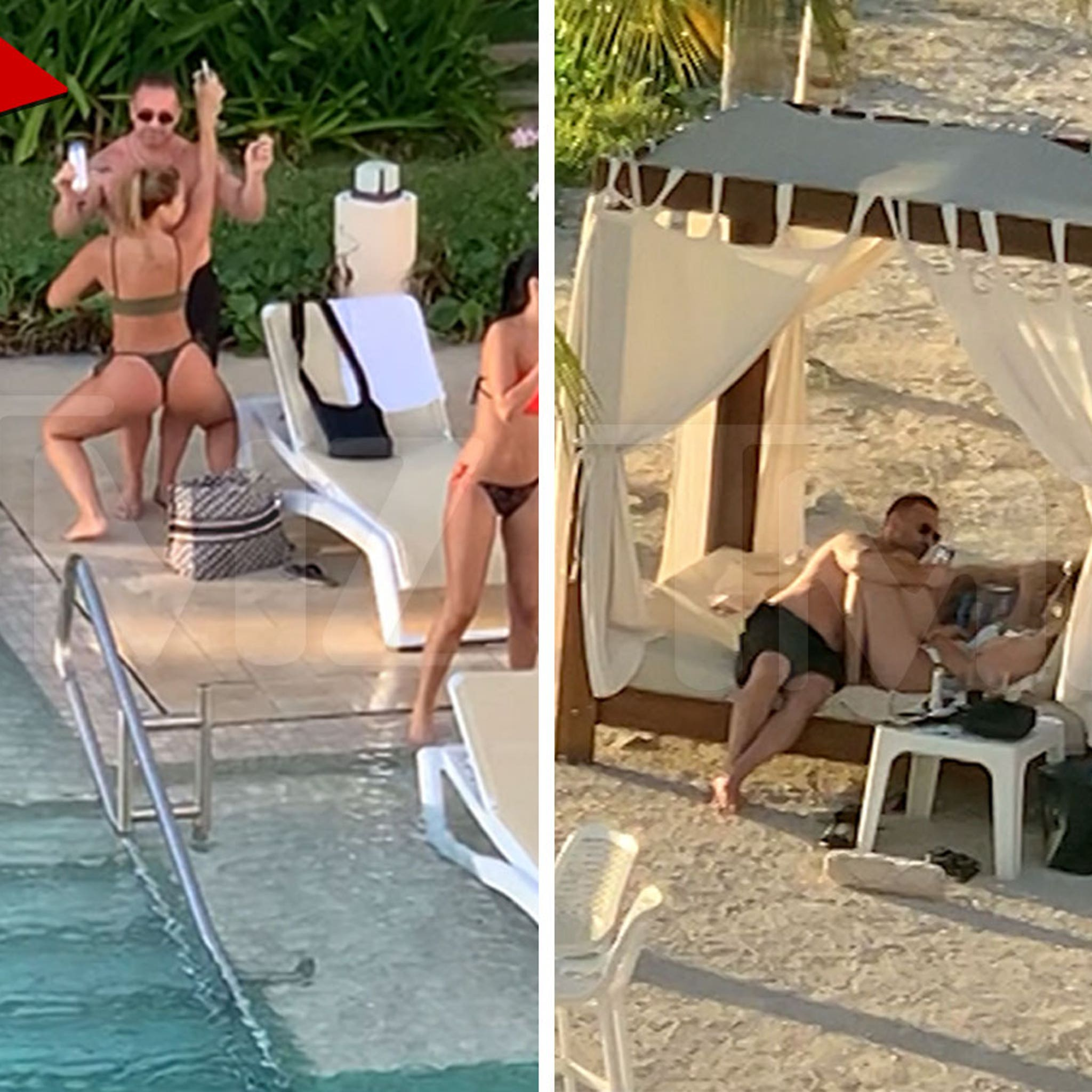 Joe Giudice Parties with a Flock of Hot Babes in Mexico, Teresa Who?