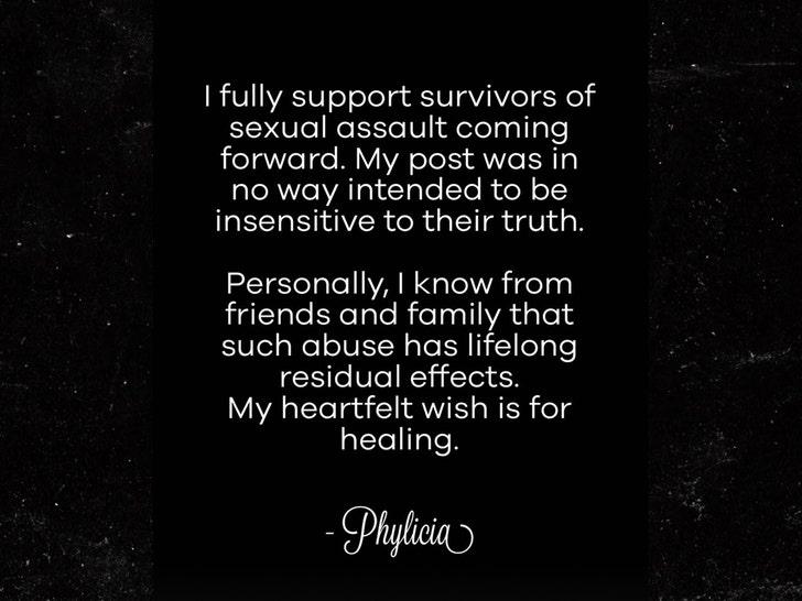 Phylicia Rashad statement