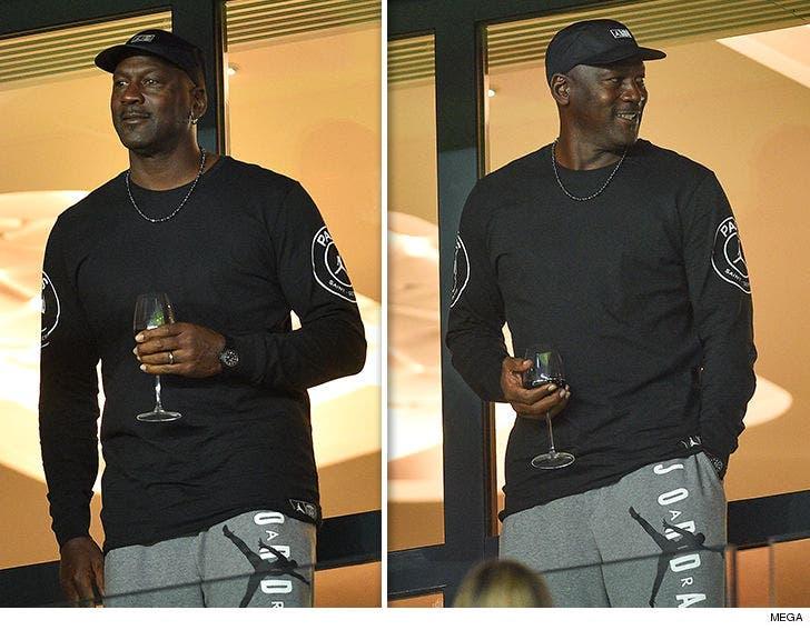 new style 3e551 b4836 Michael Jordan Crushin' Fancy Wine at PSG Soccer Game