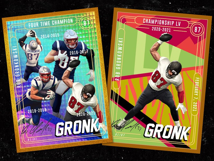 Rob Gronkowski's Epic New Trading Cards