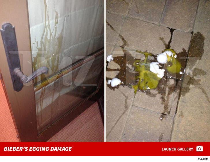 Justin Bieber's Egging Damage