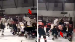 H.S. Hockey Players Violently Launched Into Boards In Insane On-Ice Brawl